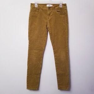 Cabi Size 6 Umber Tan Corduroy Skinny Jeans